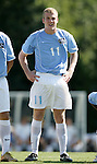 11 September 2005: Ben Hunter. The University of North Carolina Tarheels defeated the University of South Carolina Gamecocks 2-0 in an NCAA Divison I men's soccer game at Fetzer Field in Chapel Hill, NC.