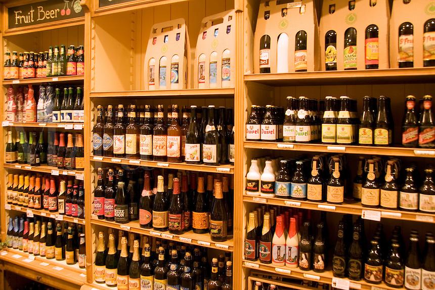 Shop called 250 Belgium Beers, Grand Place , Brussels, Belgium