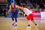 League ACB-ENDESA 2017/2018 - Game: 20.<br /> FC Barcelona Lassa vs Retabet Bilbao Basket: 90-58.<br /> Thomas Heurtel vs Ricardo Fisher.