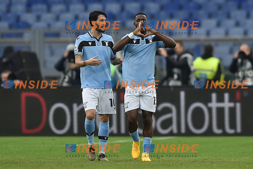 Bastos of Lazio celebrates after scoring the 4-0  goal<br /> Roma 18-01-2020 Stadio Olimpico <br /> Football Serie A 2019/2020 <br /> SS Lazio - Sampdoria<br /> Foto Antonietta Baldassarre / Insidefoto
