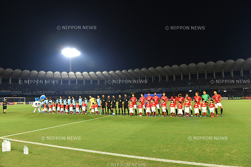 Two team group line-up,<br /> AUGUST 23, 2017 - Football / Soccer :<br /> AFC Champions League Quarter-finals 1st leg match between Kawasaki Frontale 3-1 Urawa Red Diamonds at Todoroki Stadium in Kanagawa, Japan. (Photo by AFLO)