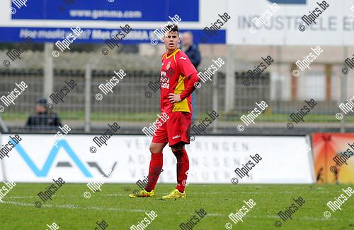 2015-01-25 / Voetbal / seizoen 2014-2015 / Kapellen - Verviers / Sam Van den Abeel<br /><br />Foto: Mpics.be