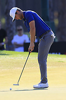 Lucas Bjerregaard (DEN) putts on the 9th green during Sunday's Final Round of the 2018 Turkish Airlines Open hosted by Regnum Carya Golf &amp; Spa Resort, Antalya, Turkey. 4th November 2018.<br /> Picture: Eoin Clarke | Golffile<br /> <br /> <br /> All photos usage must carry mandatory copyright credit (&copy; Golffile | Eoin Clarke)