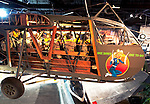 """Waco CG-4A Hadrian Glider fuselage and nose art at Cradle of Aviation Museum """"One Down One to Go"""""""