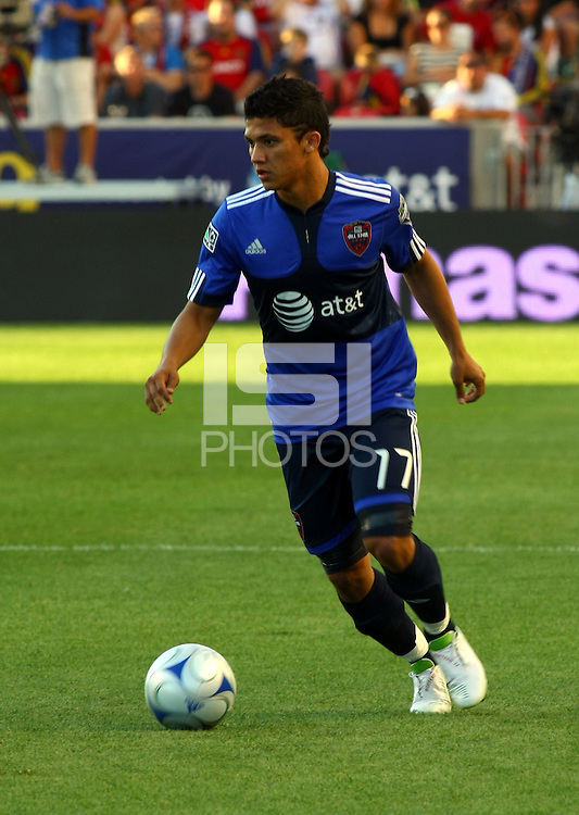Fredy Montero in the MLS All Stars v Everton 4-3 Everton win at Rio Tinto Stadium in Sandy, Utah on July 29, 2009