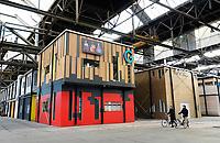 Nederland Amsterdam 2019. De NDSM-Werf. In de gebouwen van de voormalige scheepswerf zijn ateliers gevestigd. Foto Berlinda van Dam / Hollandse Hoogte