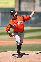 April 22nd, 2007:  David Haehnel of the Bowie Baysox, Class-AA affiliate of the Baltimore Orioles at Jerry Uht Park in Erie, PA.  Photo by:  Mike Janes/Four Seam Images