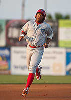Jonathan Singleton  of the Clearwater Threshers during the game against the Daytona Beach Cubs at Jackie Robinson Ballpark on April 11, 2011 in Daytona Beach, Florida. Photo by Scott Jontes / Four Seam Images