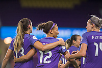 Orlando, FL - Saturday July 15, 2017: Orlando Pride  during a regular season National Women's Soccer League (NWSL) match between the Orlando Pride and FC Kansas City at Orlando City Stadium.