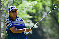 Hideki Matsuyama (JPN) watches his tee shot on 7 during round 2 of the World Golf Championships, Mexico, Club De Golf Chapultepec, Mexico City, Mexico. 3/3/2017.<br /> Picture: Golffile | Ken Murray<br /> <br /> <br /> All photo usage must carry mandatory copyright credit (&copy; Golffile | Ken Murray)