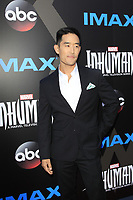 "LOS ANGELES - AUG 28:  Mike Moh at the ABC and Marvel's ""Inhumans"" Premiere Screening at the Universal City Walk on August 28, 2017 in Los Angeles, CA"
