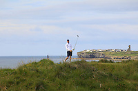 David Byrne (Athenry) on the 12th tee green during Round 3 of The South of Ireland in Lahinch Golf Club on Monday 28th July 2014.<br /> Picture:  Thos Caffrey / www.golffile.ie