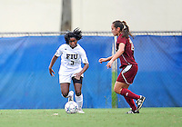 Florida International University women's soccer player Paige Covington (3) plays against the University of Denver on October 16, 2011 at Miami, Florida. FIU won the game 1-0. .