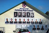 The FAHS NZ rugby national representatives on display during the Central North Island 1st XV rugby union match between Feilding High School and Manukura at Feilding High School in Feilding, New Zealand on Wednesday, 27 June 2018. Photo: Dave Lintott / lintottphoto.co.nz