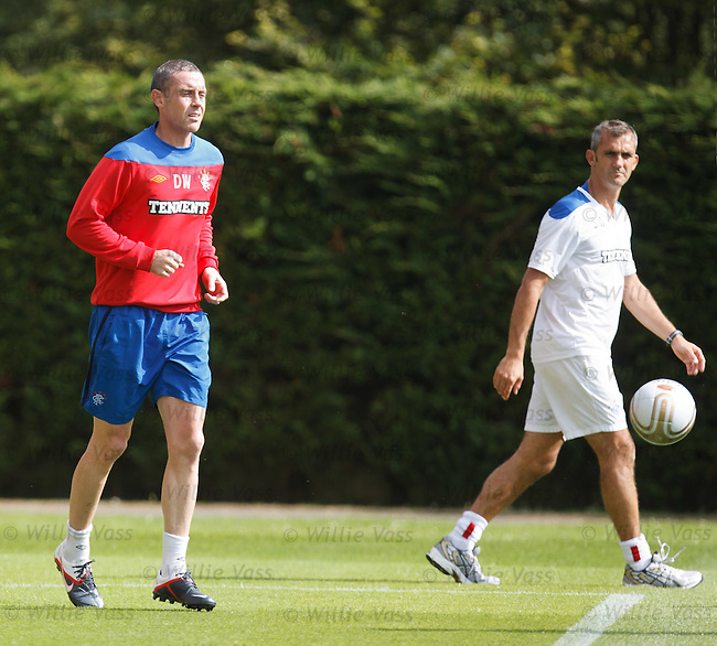 David Weir having a fitness test