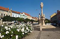 Cross on the main street of the old town - Tapolca, Balaton, Hungary