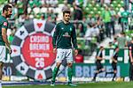 01.09.2019, wohninvest WESERSTADION, Bremen, GER, 1.FBL, Werder Bremen vs FC Augsburg<br /> <br /> DFL REGULATIONS PROHIBIT ANY USE OF PHOTOGRAPHS AS IMAGE SEQUENCES AND/OR QUASI-VIDEO.<br /> <br /> im Bild / picture shows<br /> Ilia Gruev (Werder Bremen #28) beim Aufwärmen, <br /> <br /> Foto © nordphoto / Ewert
