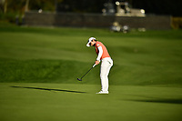 The 2018 Kia Classic Champion Eun-Hee Ji (KOR) putts on the 18th green during the Final Round at the Kia Classic,Park Hyatt Aviara Resort, Golf Club &amp; Spa, Carlsbad, California, USA. 3/25/18.<br /> Picture: Golffile | Bruce Sherwood<br /> <br /> <br /> All photo usage must carry mandatory copyright credit (&copy; Golffile | Bruce Sherwood)