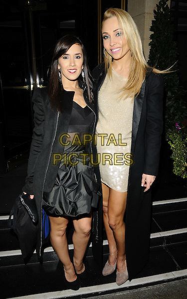 LONDON, ENGLAND - OCTOBER 30: Iveta Lukosiute &amp; Janette Manrara attend the Donna Air &amp; hardlyeverwornit.com party in aid of UNICEF, Dorchester Hotel, Park Lane on October 30th, 2013 in London, England, UK.<br /> CAP/CAN<br /> &copy;Can Nguyen/Capital Pictures