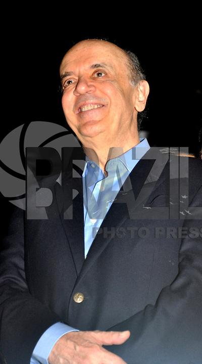 SAO PAULO, SP, 17 DE MAIO 2012 - DEMOCRATAS ANUNCIA APOIO AO CANDIDATURA DE JOSE SERRA -  O candidato a prefeitura de Sao Paulo, Jose Serra, durante evento em que o Democratas anuncia apoio a candidatura de Jose Serra no Clube Homs na regiao da Avenida Paulista, nesta quinta-feira, 17. (FOTO: THAIS RIBEIRO / BRAZIL PHOTO PRESS).