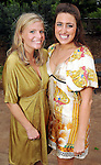 Amanda Burke and Linda Gardner at the Zoo Friends of Houston's 22nd Zoo Ball Friday April 30,2010.  (Dave Rossman Photo)