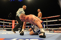 Jon Lewis Dickinson stops Stephen Simmons - Boxing at the Metro Radio Arena, Newcastle, promoted by Matchroom Sports - 04/04/15 - MANDATORY CREDIT: Steven White/TGSPHOTO - Self billing applies where appropriate - contact@tgsphoto.co.uk - NO UNPAID USE