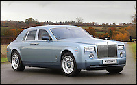 BNPS.co.uk (01202 558833)<br /> Pic: H&amp;H/BNPS<br /> <br /> 2003 Rolls Royce Phantom with only 5100 miles on the clock - &pound;80,000.<br /> <br /> The &pound;1,000,000 garage sale... a stunning collection of luxury cars seized from the personal collection of a Middle Eastern sheikh has emerged. <br /> <br /> The impressive fleet, comprising Ferrari, Rolls-Royce and Bentley motors, has arrived at auction following a high court ruling against their former owner.<br /> <br /> Due to their unusual history many of the cars, all of which were UK based and have unusually low mileages, are being offered at a bargain price.