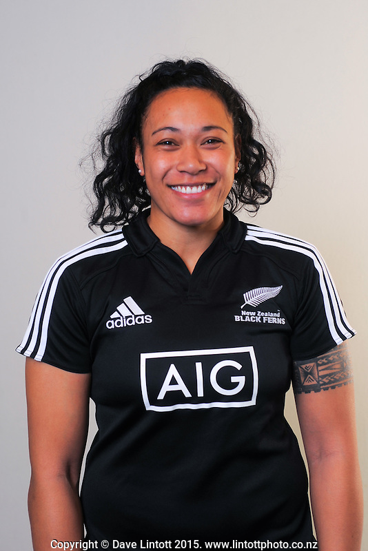 Jackie Patea. New Zealand Black Ferns headshots at The Rugby Institute, Palmerston North, New Zealand on Thursday, 28 May 2015. Photo: Dave Lintott / lintottphoto.co.nz