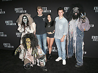 BUENA PARK, CA - SEPTEMBER 29:  Levi Meaden, Ariel Winter and Nolan Gould at Knott's Scary Farm & Instagram's Celebrity Night at Knott's Berry Farm in Buena Park, California on September 29, 2017. Credit: Faye Sadou/MediaPunch