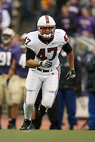 11 November 2006: Josh Catron during Stanford's 20-3 win over the Washington Huskies in Seattle, WA.