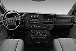 Stock photo of straight dashboard view of 2016 Chevrolet Express 3500-LS 4 Door Passenger Van Dashboard