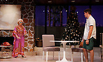 """Peggy J. Scott and Davy Raphaely in """"Other Desert Cities"""" at the tech rehearsal (in costume) on October 14, 2015 at Whippoorwill Halll Theatre, North Castle Library, Kent Place, Armonk, New York.  (Photo by Sue Coflin/Max Photos)"""