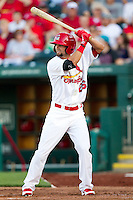 Adam Melker (26) of the Springfield Cardinals at bat during a game against the St. Louis Cardinals at Hammons Field on April 2, 2012 in Springfield, Missouri. (David Welker/Four Seam Images)