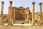 Ninfeo entrance from Cardo Maximus in Jerash