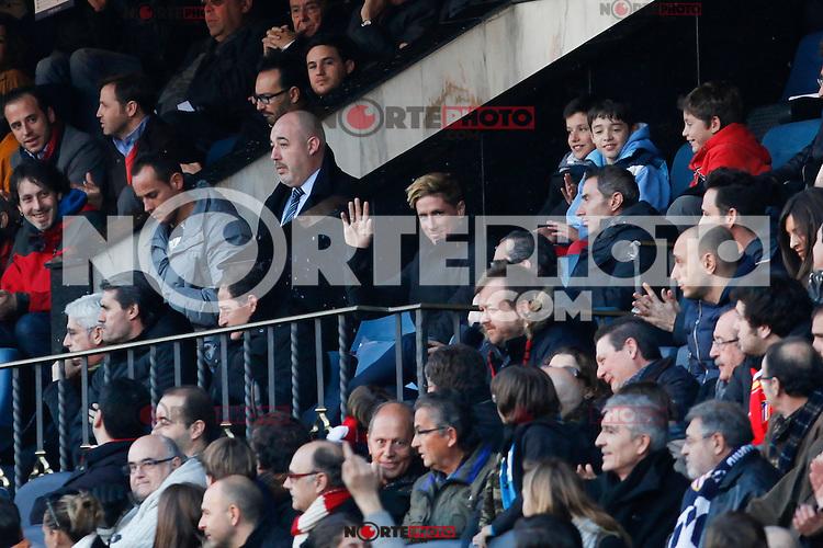 Atletico de Madrid´s Fernando Torres at the stadium box during 2014-15 La Liga match at Vicente Calderon stadium in Madrid, Spain. January 03, 2015. (ALTERPHOTOS/Victor Blanco) /NortePhoto /NortePhoto.com