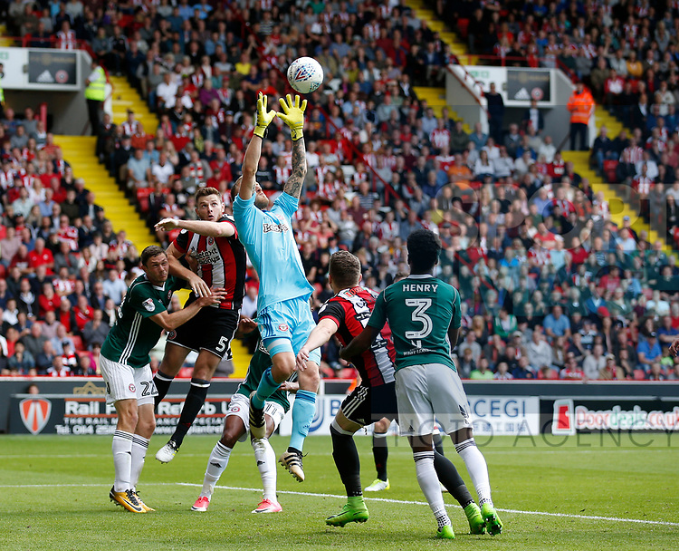 Jack O'Connell of Sheffield Utd during the English Championship League match at Bramall Lane Stadium, Sheffield. Picture date: August 5th 2017. Pic credit should read: Simon Bellis/Sportimage