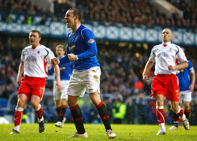 Kris Boyd roars after scoring from the penalty spot