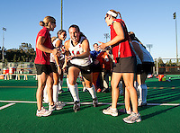 STANFORD, CA - September 3, 2010: Heather Alcorn (14) during a field hockey match against UC Davis in Stanford, California. Stanford won 3-1.