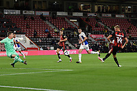 Sam Surridge of Bournemouth puts the ball in the net, but is disallowed during AFC Bournemouth vs Crystal Palace, Carabao Cup Football at the Vitality Stadium on 15th September 2020
