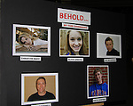 "A staged reading of ""Behold"" starring Christine Nagy (C) (radio personality, actress at 106.7 Lite-FM and previously at Z100), Sean O'Donnell, Kieth Godfrey, Nagy, Joe DelGiodice and Olivia Lengyel with director A.J. Ciccotelli and author Tom Cavanaugh on May 11, 2013 at the Black Box of Asbury Park in Ocean Grove, NJ. (Photo by Sue Coflin/Max Photos)"
