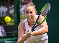 London, England, 1  st July, 2019, Tennis,  Wimbledon, Shelby Rogers (USA)<br /> Photo: Henk Koster/tennisimages.com