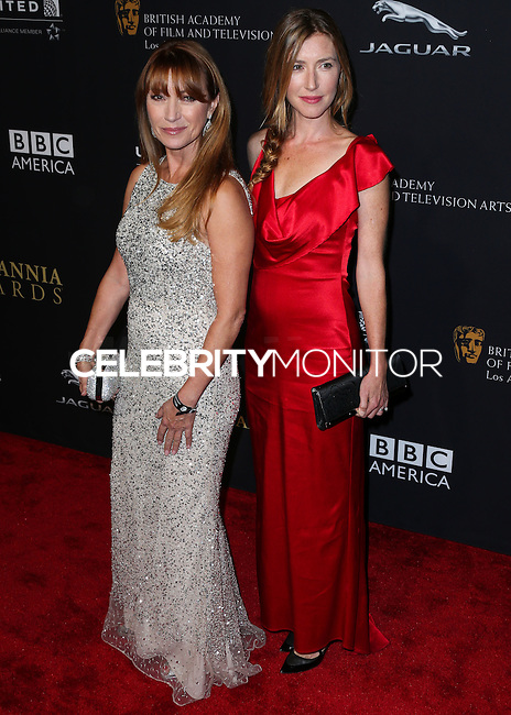 BEVERLY HILLS, CA, USA - OCTOBER 30: Jane Seymour, Katherine Flynn arrive at the 2014 BAFTA Los Angeles Jaguar Britannia Awards Presented By BBC America And United Airlines held at The Beverly Hilton Hotel on October 30, 2014 in Beverly Hills, California, United States. (Photo by Xavier Collin/Celebrity Monitor)