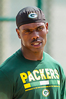 Green Bay Packers cornerback LaDarius Gunter (36) during a training camp practice on August 15, 2017 at Ray Nitschke Field in Green Bay, Wisconsin.   (Brad Krause/Krause Sports Photography)