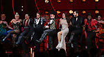 "Robyn Hurder, Ricky Rojas, Aaron Tveit, Danny Burstein, Karen Olivo, Tam Mutu and Sahr Nguajah during the Broadway Opening Night performance Curtain Call bows for ""Moulin Rouge! The Musical"" at the Al Hirschfeld Theatre on July 25, 2019 in New York City."