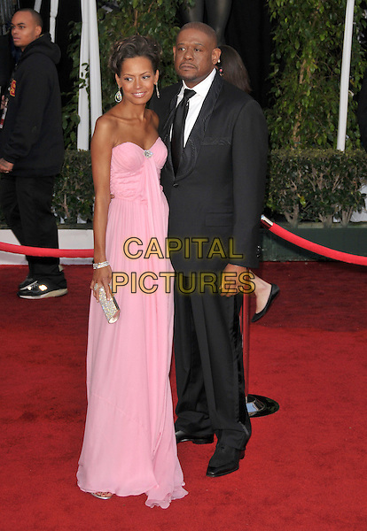 KEISHA WHITAKER & FOREST WHITAKER.Attends The 14th Annual Screen Actors Guild Awards held at The Shrine Auditorium in Los Angeles, California USA, January 27th 2008..full length strapless pink dress married husband wife.CAP/DVS.©Debbie VanStory/Capital Pictures