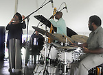 The Charenee Wade Group that started the music at the Annual Jazz in the Valley Festival,  in Waryas Park in Poughkeepsie, NY, on Sunday, August 21, 2016. Photo by Jim Peppler. Copyright Jim Peppler 2016 all rights reserved.