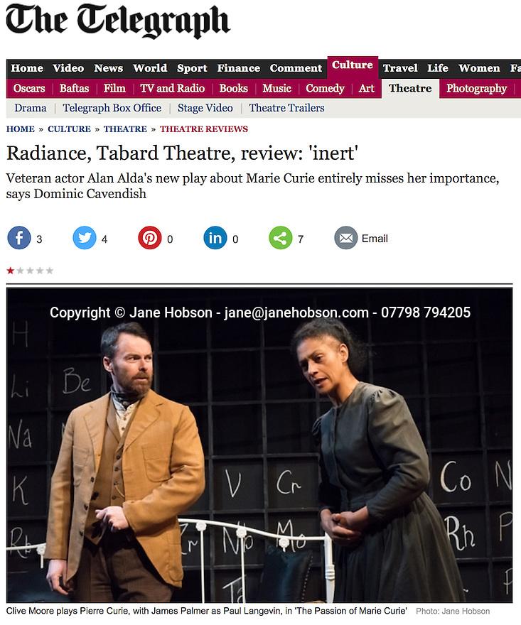 Radiance, Tabard, Telegraph 2015-02-06