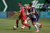 Portland, OR - Saturday September 02, 2017: Nadia Nadim during a regular season National Women's Soccer League (NWSL) match between the Portland Thorns FC and the Washington Spirit at Providence Park.