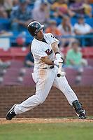 Winston-Salem right fielder David Cook (24) makes contact versus Wilmington at Ernie Shore Field in Winston-Salem, NC, Saturday, June 9, 2007.
