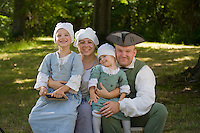 Camp follower reenactors, Revolutionary War, Monmouth Battlefield State Park, New Jersey